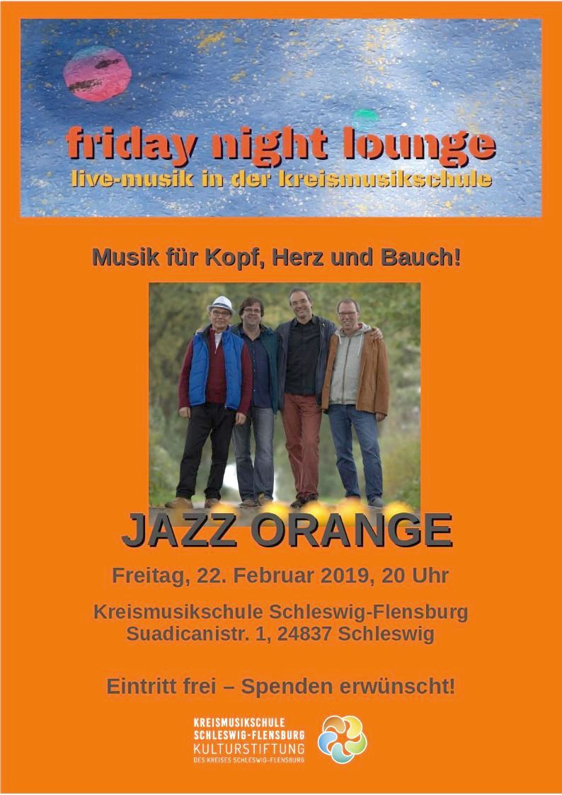 friday night lounge: mit Jazz-Orange