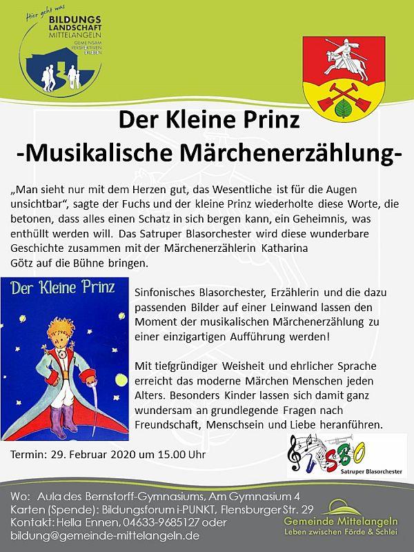 """""""Der Kleine Prinz"""" Musikalisches Märchen"""